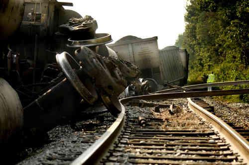 CSX Train Derailment Spills Coal in Ferry Farm VA Area