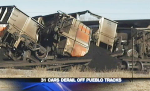 Bnsf coal train derails in pueblo colorado fela lawyer for Local motors pueblo co