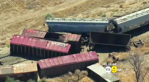 Wrecked Train Crash Pic