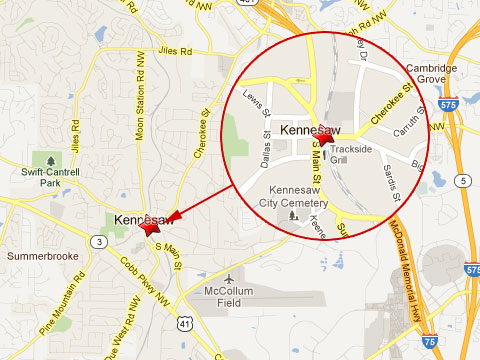 Map Of Georgia Kennesaw.Csx Train Slams Into Tractor Trailer Stuck On The Tracks In Kennesaw