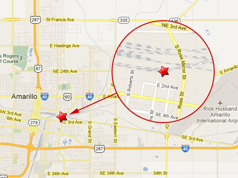 BNSF Railroad Worker Killed In Amarillo TX Rail Yard Accident - Map of amarillo texas