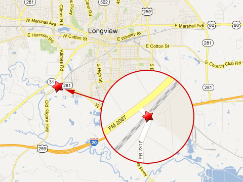 Map Of Texas Longview.Union Pacific Train Hits Semi Truck Crossing Railroad Tracks In