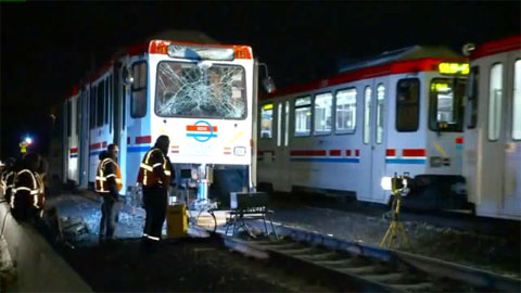 Two passengers and a railroad worker were injured when a TRAX commuter train crashed into a decoupled rail car that was sitting on the tracks in Midvale, UT on November 6, 2013.